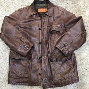 Timberland Leather Coat - great patina!